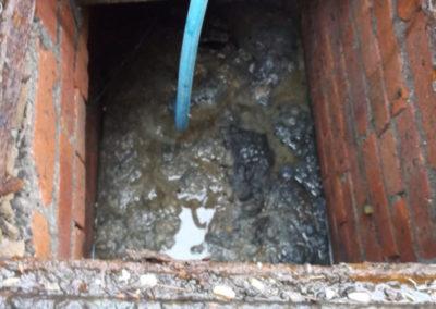 Blocked drain, Irlam, Manchester